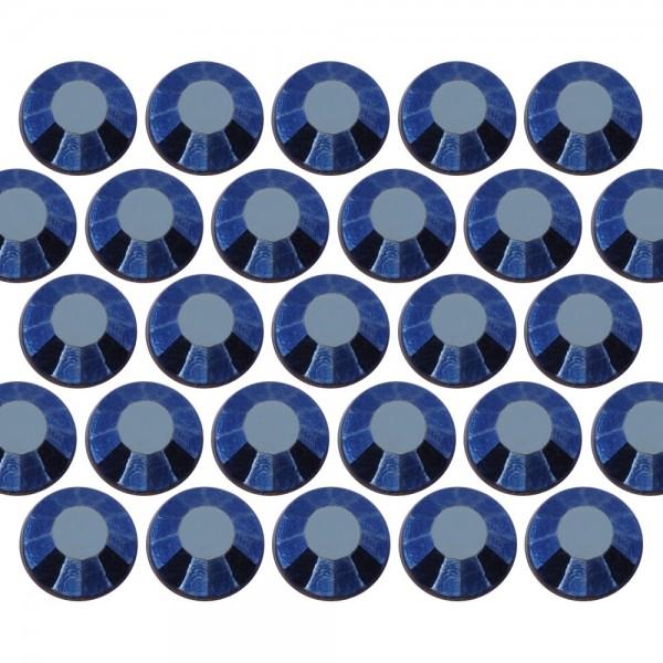 Glass rhinestone beads SS10 (3mm) Blue Hematite