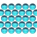 Glass rhinestone beads SS16 (4mm) Blue Zircon
