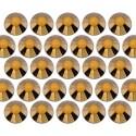 Glass rhinestone beads SS16 (4mm) Gold Hematite