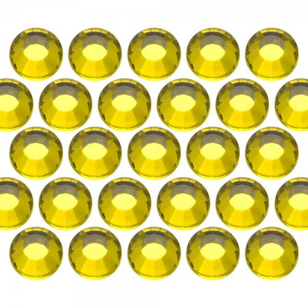 Glass rhinestone beads SS16 (4mm) Citrine