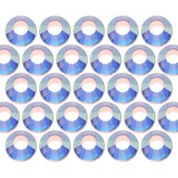 Glass rhinestone beads SS16 (4mm) AB Crystal