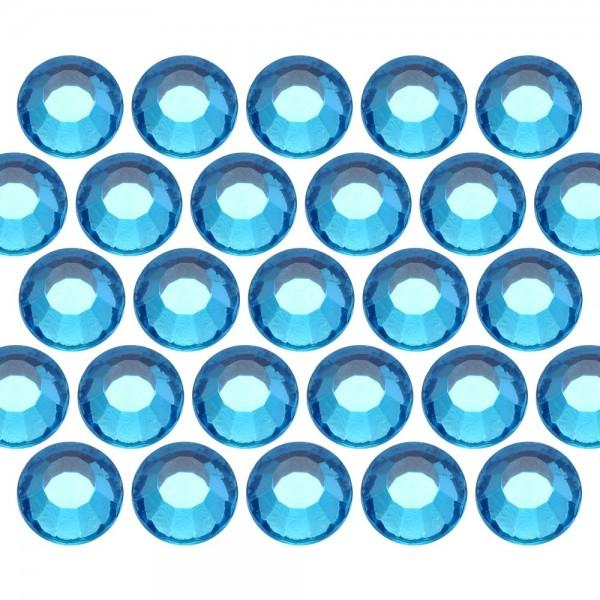 Glass rhinestone beads SS16 (4mm) Aquamarine