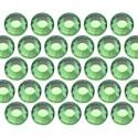 Glass rhinestone beads SS16 (4mm) Green