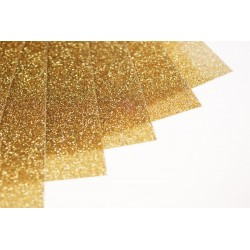 Glitter hot fix foil sheets 20x25cm SG-09 Gold 10 pcs