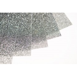 Glitter hot fix foil sheets 20x25cm SG-01 Silver 10 pcs