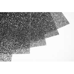 Glitter hot fix foil sheets 20x25cm SG-12 Black 10 pcs
