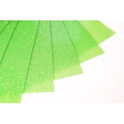 Glitter hot fix foil sheets 20x25cm SFF-54 FLUO Green 10 pcs