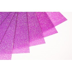 Glitter hot fix foil sheets 20x25cm SFF-57 FLUO Purple 10 pcs