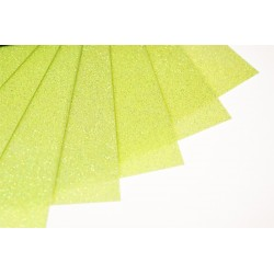 Glitter hot fix foil sheets 20x25cm SFF-52 Fluo Lime 10 pcs