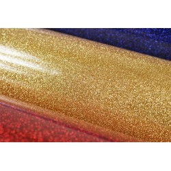 Glitter foil hot fix 50cm x 50m SG-09 Gold