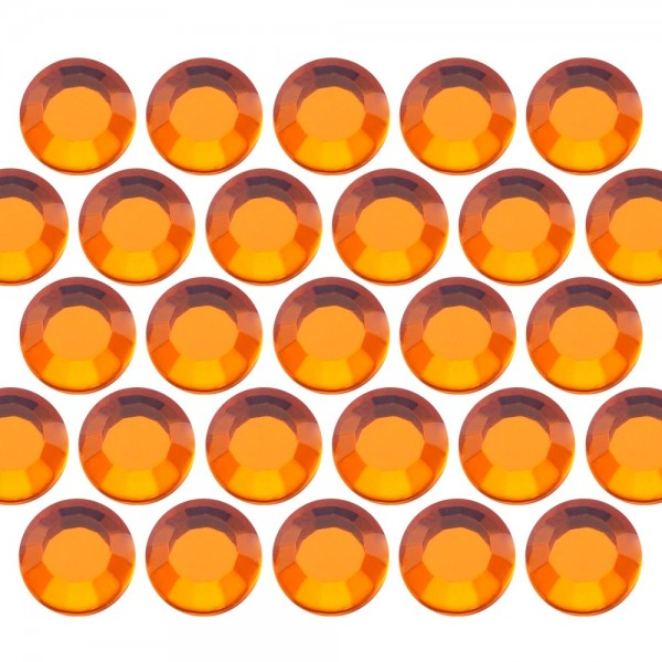Glass rhinestone beads SS16 (4mm) Orange
