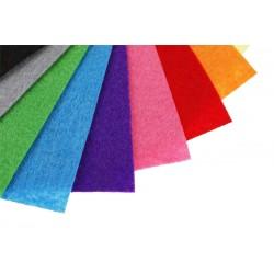 Filc kolorowy w arkuszach 20x30 cm Mix 15 kolorów