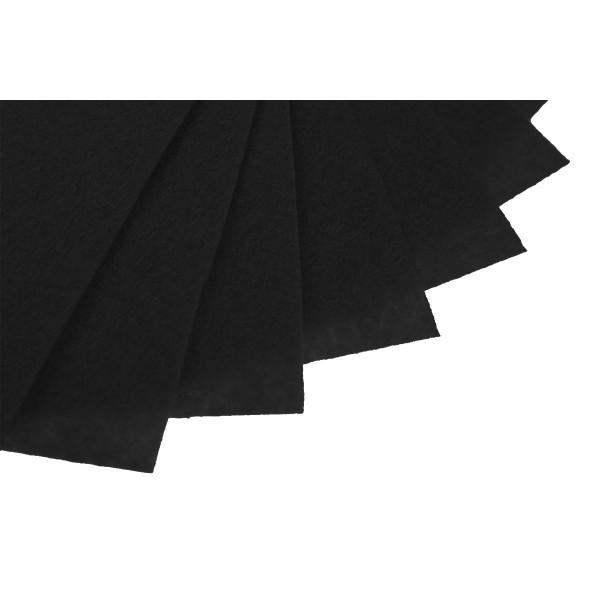 Filc w arkuszach 20x30 cm 1 szt. P014 Czarny