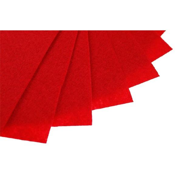 Filc w arkuszach 20x30 cm 1 szt. P094 Czerwony