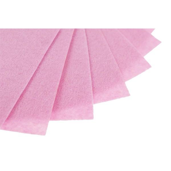 Filc w arkuszach 20x30 cm 1 szt. P071 Jasny Różowy