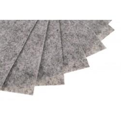 Filc w arkuszach 20x30 cm 1 szt. P062 Szary Melanż