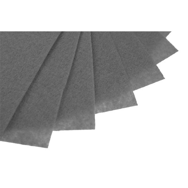 Filc w arkuszach 20x30 cm 1 szt. P053 Ciemny Szary