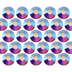 Dżety szklane Pellosa SS6 (2mm) AB Crystal 100 gross (14400 szt.)
