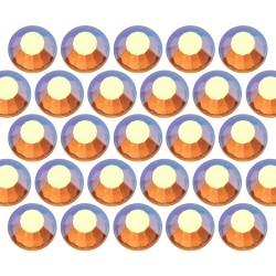 Glass rhinestone beads SS20 (5mm) AB Topaz