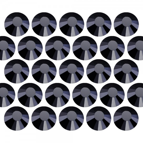 Dżety szklane Pellosa SS16 (4mm) Jet Black 20 gross (2880 szt.)