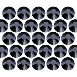 Dżety szklane Pellosa SS10 (3mm) Jet Black 10 gross (1440 szt.)