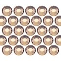 Glass rhinestone beads SS20 (5mm) Lt. Colo. Topaz