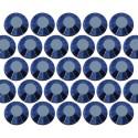 Glass rhinestone beads SS20 (5mm) Blue Hematite