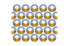 Glass rhinestone beads SS30 (6mm) AB Peridot