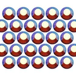 Glass rhinestone beads SS30 (6mm) AB Sm. Topaz