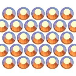 Glass rhinestone beads SS30 (6mm) AB Topaz