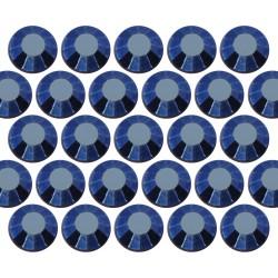Glass rhinestone beads SS30 (6mm) Blue Hematite