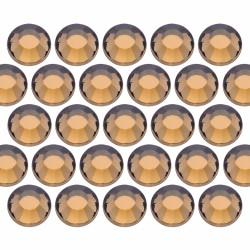 Glass rhinestone beads SS30 (6mm) Colorado Topaz