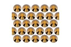Glass rhinestone beads SS30 (6mm) Gold Hematite