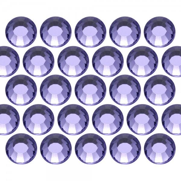 Glass rhinestone beads SS30 (6mm) Tanzanite