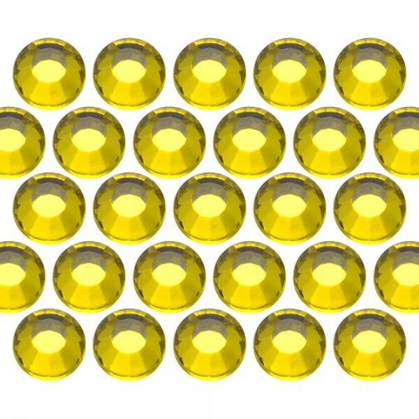 Glass rhinestone beads SS30 (6mm) Citrine