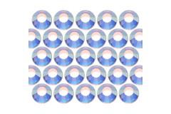 Glass rhinestone beads SS30 (6mm) AB Crystal