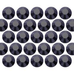 Glass rhinestone beads SS30 (6mm) Jet Black