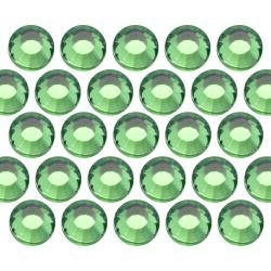 Glass rhinestone beads SS30 (6mm) Green
