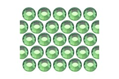 Glass rhinestone beads SS30 (6mm) Green