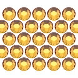 Glass rhinestone beads SS30 (6mm) Topaz