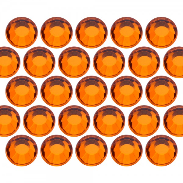 Glass rhinestone beads SS30 (6mm) Orange