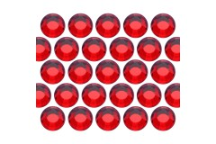 Glass rhinestone beads SS30 (6mm) Lt. Siam