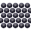 Glass rhinestone beads SS20 (5mm) Jet Black