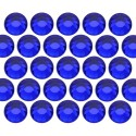 Glass rhinestone beads SS20 (5mm) Cobalt