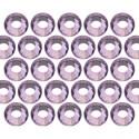 Glass rhinestone beads SS20 (5mm) Lt. Amethyst