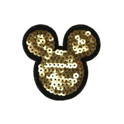 Naprasowanka Aplikacja Termo z cekinami Miki