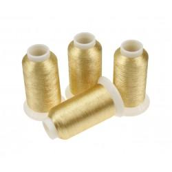 Nici metalizowane do haftu ROYAL PG002 Jasny Złoty