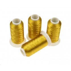 Nici metalizowane do haftu ROYAL AG002 Ciemne Stare Złoto