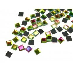 Kwadraciki szklane 6x6mm termo Multikolor