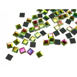 Kwadraciki szklane 6x6mm Multikolor